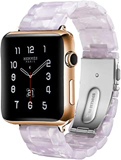 Band Compatible with Apple Watch Resin Watch Bands Compatible with Apple Watch 38mm 42mm 40mm 44mm for Women Men