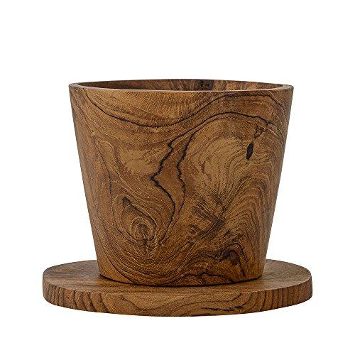 Bloomingville - Tasse mit Untertasse - Teak - Ø10 x H7 cm