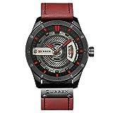 Reloj Marca para Hombre Relojes Deportivos Militares Reloj de Cuarzo para Hombre Reloj de Pulsera de Cuero Casual para Hombre Relogio Masculino
