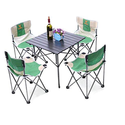 Vogvigo Five sets of folding outdoor leisure tables and chairs Outdoor tables and chairs conjoined folding tables and chairs thick display table casual table