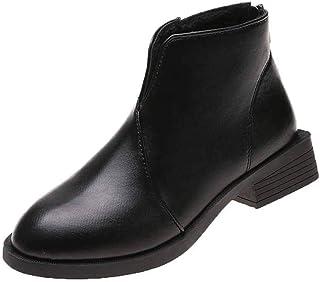 ZOSYNS Damesschoenen, winterlaarzen, leren schoenen, Chelsea laarzen, korte laarzen, warm gevoerd, modieus, casual, comfor...