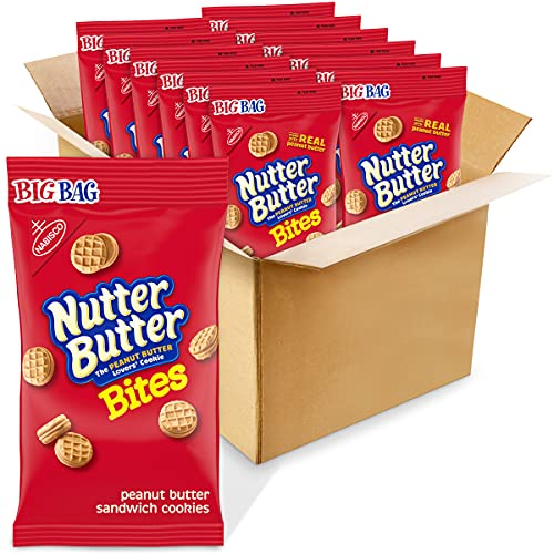 butter snack cookies Nutter Butter Bites Peanut Butter Sandwich Cookies, 12 - 3 oz Big Bags