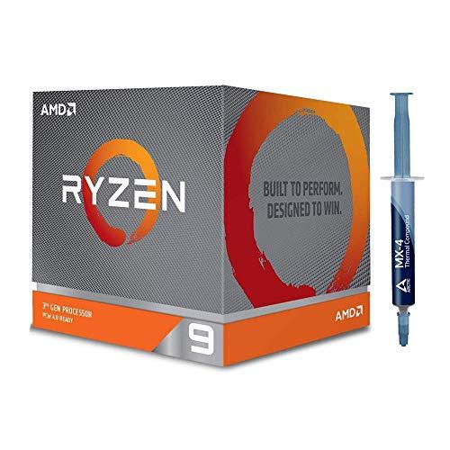Special Bundle - AMD 100-100000023BOX Ryzen 9 3900X 12-core, 24-Thread Unlocked Desktop Processor with Wraith Prism LED Cooler + Arctic ACTCP00002B MX-4 4G 2019 Edition Thermal Compound (4.0 g)