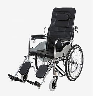 手動車椅子高品質レザークッション折りたたみ式ポータブルトランジットトラベルチェアスチールパイプ素材ブレーキシステム輸送車椅子用旅行と保管