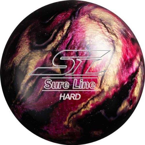 (ABS) ボウリングボール シュアラインハード ブラック 16ポンド 【スペアボール】