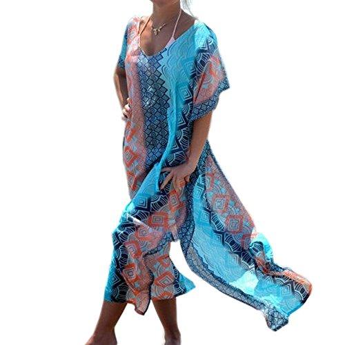 JBY Damen Strandkleider Türkischer Stil Chiffon Boho durchsichtig Sommerkleider große größen Sexy Bikini Cover up Überdimensional Maxi Kimono Kaftan Tunika Urlaub
