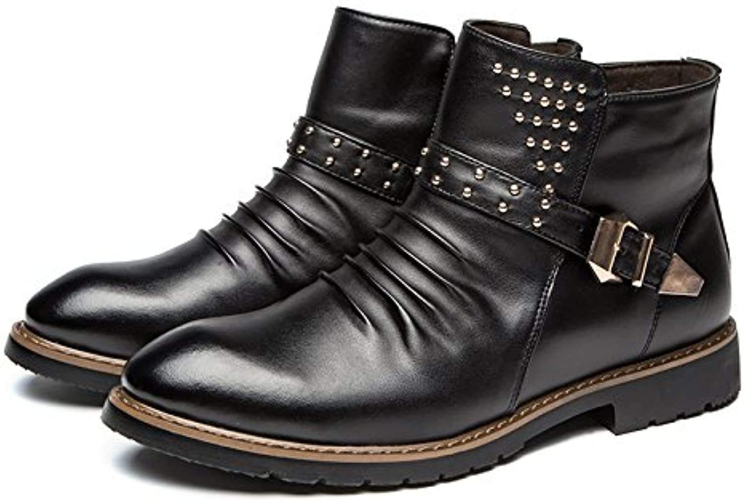 WZG New Martin boots British men 's high - top shoes men' s shoes classic shoes , black , 43