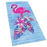 Flamingo Beach Towel 30 x 60 inches 100% Cotton (Pink Flamingo,...
