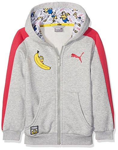 PUMA Sudadera Minions, Chaqueta con Capucha para niño, Infantil, Minions Hooded Jacket, Gris, 164