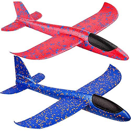 Wurfgleiter Styroporflieger Groß Segelflieger Styropor Flugzeug Styropor Spielzeug Outdoor Kinder (2 Pack)