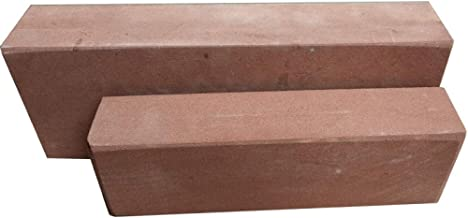 HJJDMPiedra Arenisca roja Natural Piedra de afilar Grande Cuchillo de Cocina para el hogar carpinter/ía Fina Piedra de afilar afilador de Piedra @ 大号