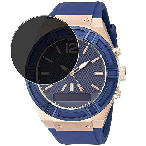 Vaxson Protector de Pantalla de Privacidad, compatible con Guess Connect Smartwatch 45mm Hybrid Watch [no vidrio templado] TPU Película Protectora Anti Espía