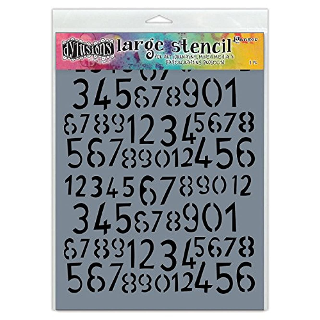 Ranger Lg Old Number Dylusions Stencil LgOld School