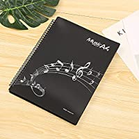 Jinchuan 楽譜ファイル 20ポケット 40ページ A4 書き込みオッケー 収納力抜群リングタイプ 楽譜ホルダー 演奏会 発表会 コンクール(タイプ4,ブラック)