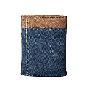 LYRSRX メンズウォレットキャンバス学生メンズ財布短い段落30%財布コノマネーカードパッケージ