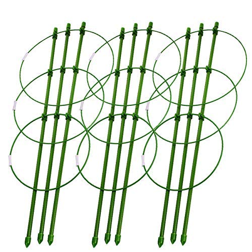 Sunnyglade Plant Support Cages 18 Inches Plant Cages with 3 Adjustable...