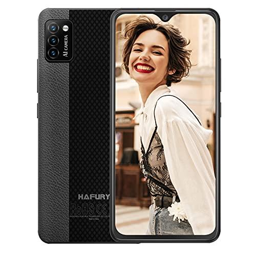 Hafury günstig Smartphone ohne Vertrag, 4G LTE Handy, 5.5 Zoll Display mit 3100mAh Akku, 2GB + 16GB, 128GB erweitbar, Android 10, 3 Kameras, Face ID, Schwarz