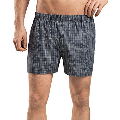 Hanro Herren Fancy Woven Boxershorts, Mehrfarbig (Grey Check 1045), 46 (Herstellergröße: S)