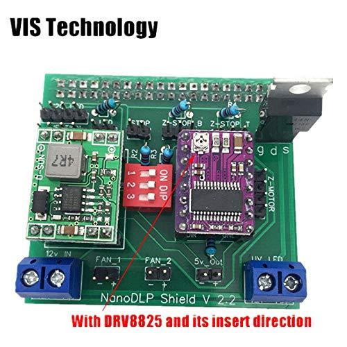 1 Satz gut löten Nanodlp Shield V2.2 Board mit DRV8825 für SLA Nano Drucker Thingiverse TOS