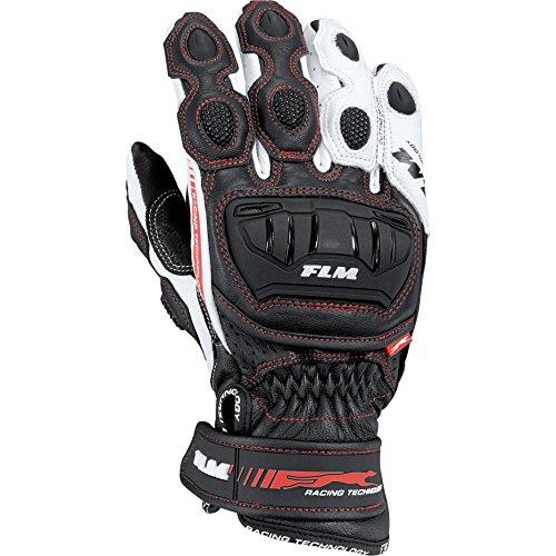 FLM Motorradhandschuhe kurz Motorrad Handschuh Sports Lederhandschuh 2.0 kurz weiß 8, Herren, Sportler, Ganzjährig, Leder/Textil