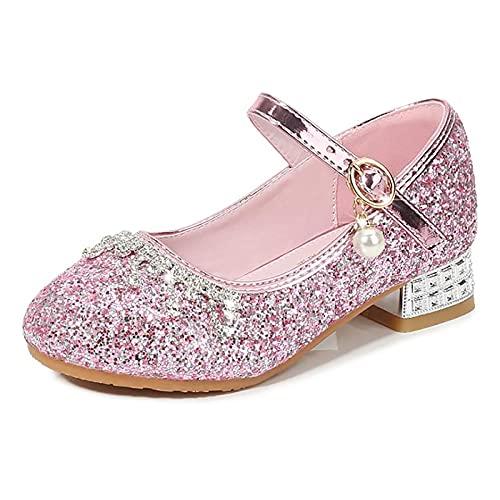 AISHANGYIDE Niñas Princesa Zapatos Bailarina Zapatos de Tacón Vestido Formal Zapatos de...