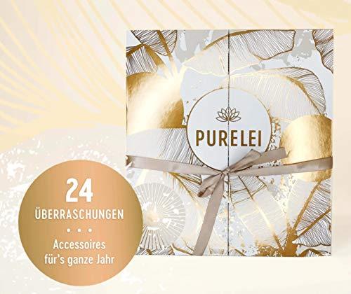 Purelei Frauen Adventskalender 2020, Schmuck Adventkalender Frau, Wert 700 €, Armband Kette Weihnachtskalender 24x Damen