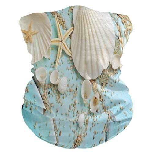 TropicalLife SunsetTrip Starfish Sandy Seashells Bandana de madera multifuncional para la cara polvo UV cuello polaina diadema diadema pañuelo para deportes senderismo correr ciclones