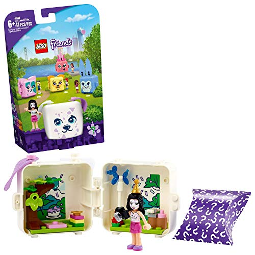 LEGO Friends Emma's Dalmatian Cube 41663 Building Kit; Puppy Toy Creative Gift for Kids Comes with an Emma Mini-Doll Toy, New 2021 (41 Pieces)