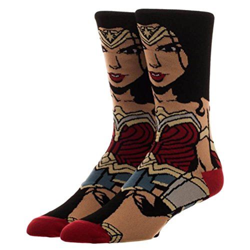 DC Universe Offizielle Justice League Wonder Woman 360 Charakter Crew Socken - Einheitsgröße