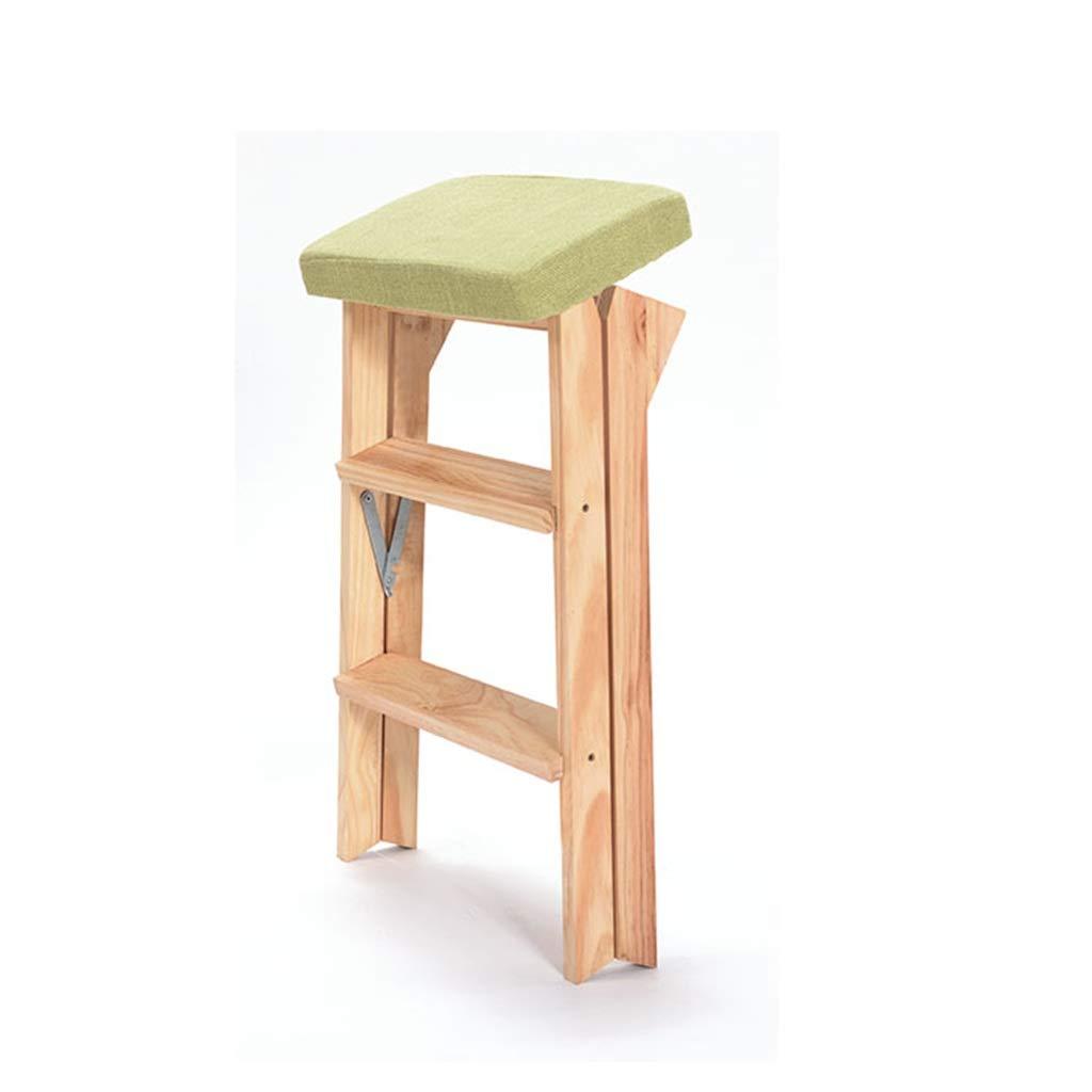 ABARB Escalera plegable portátil Taburete de bar Taburete plegable multifuncional Taburete Ama de casa Silla de descanso Taburete Cocina Escalera de madera Cojín de asiento suave Desmontable y limpiab: Amazon.es: Hogar