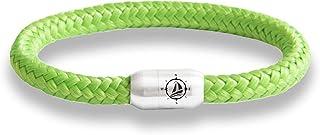 Generisch • Paris Montana • Das Original Yacht Club Kompass Segeltau Armband Mit Gravur Und Wunschname Auf Der Geschenkkarte Starker Magnet Verschluss