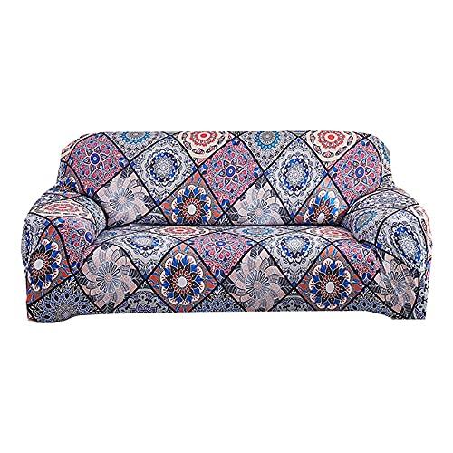 ASCV Funda de sofá elástica para Sala de Estar Toalla de sofá Funda de sofá Antideslizante para sofá Strench Juego de Fundas 1/2/3/4 plazas A3 1 Plaza