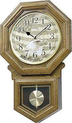 Amazon Com Seiko Wall Pendulum Schoolhouse Clock Dark