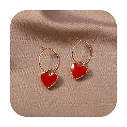 Pendientes de gota de oro rojo cereza dulce fruta larga pendientes de cristal para mujer regalo joyería borla accesorios colgantes