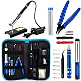 Anbes Soldering Iron Kit, Upgraded 60W Adjustable Temperature Welding Tool with ON-OFF...