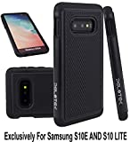 Pelotek; Samsung 10e Black Case | Samsung S10e Protective Case | Rigid Durable Shockproof Heavy-Duty Case | Hybrid Defender Shock Absorbing Ballistic S10E, S10 LITE Case | Luxury Soft Grip (Black