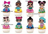 30 x LOL Puppen Zeichen Party Stand Up Essbare Papier Cupcake Topper Kuchen Dekorationen