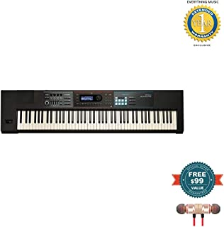 Roland Lightweight, 88-note Weighted-action Keyboard with Pro Sounds (JUNO-DS88) includes Free Wireless Earbuds - Stereo Bluetooth In-ear and 1 Year Everything Music Extended Warranty