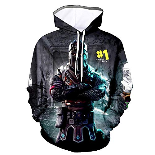 Youth 3D Printed Hooide Battle Royale Floss Sweatshirt with Pocket for Ninja Boys Knight Kids-S(9-10)