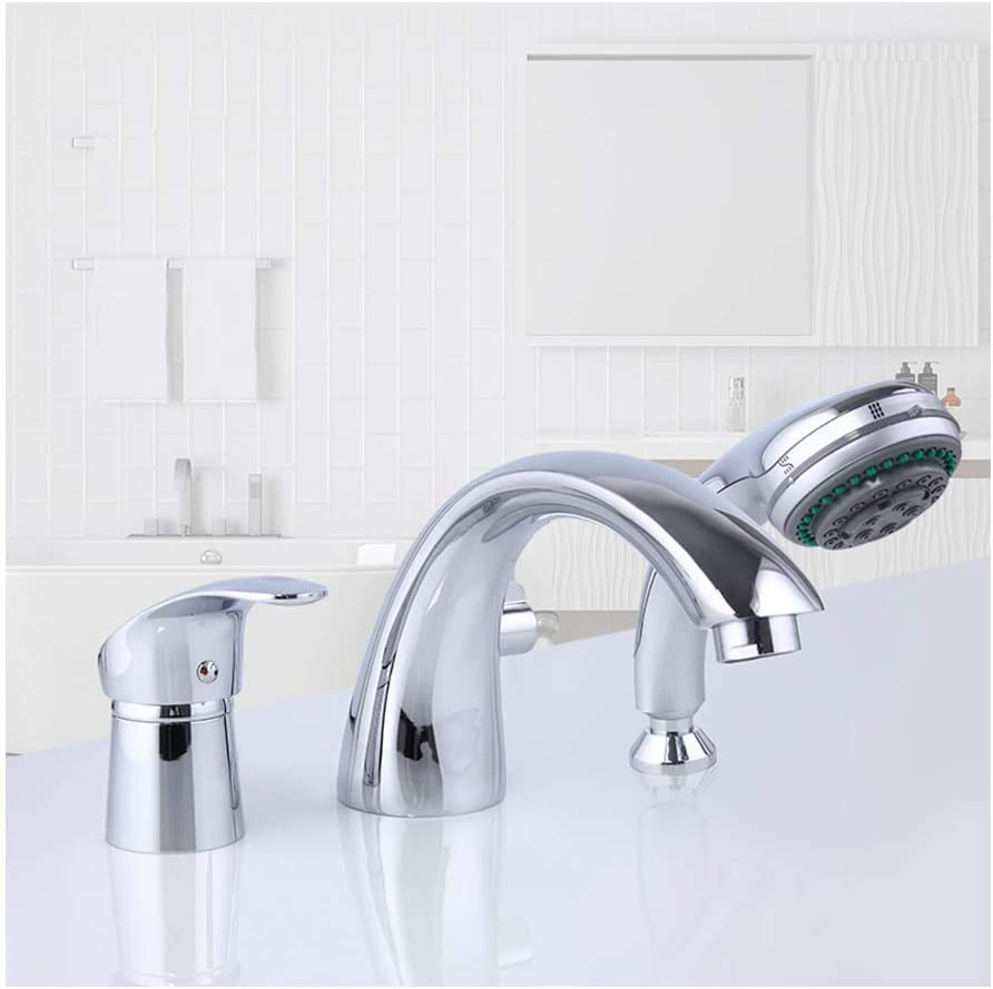 GAXQFEI Chrome Bathtub Faucet with and Water Widespread Direct sale of Outlet ☆ Free Shipping manufacturer Hot Cold