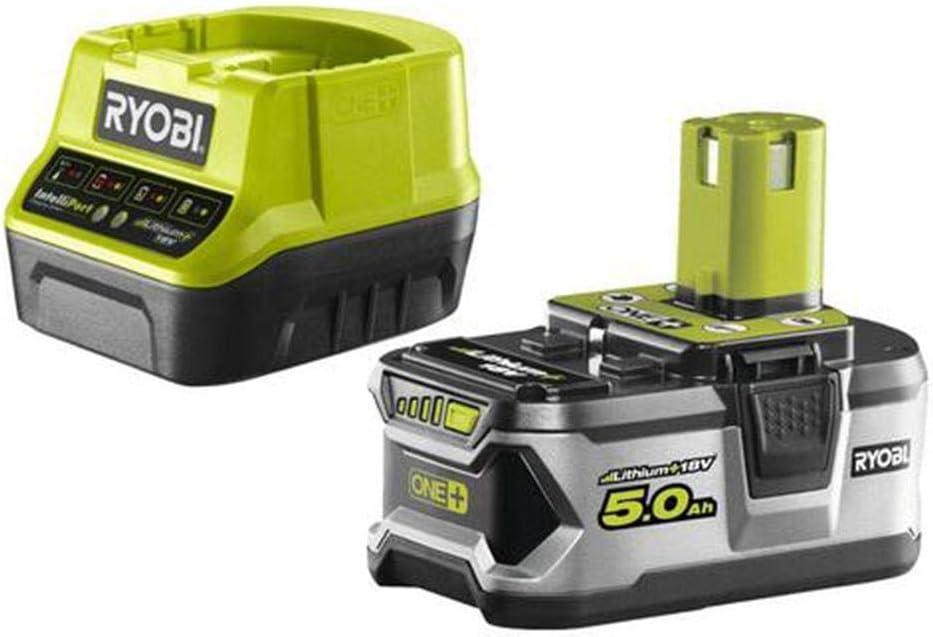 Ryobi 5133003366 Batería 18V 5,0Ah, Cargador RC18120-150, 18 V