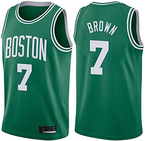 WHYYT Jaylen Brown Jerseys - NBA Boston Celtics # 7 Jersey de Baloncesto para Hombre, Chaleco sin Mangas Transpirable Bordado,XL(180~185CM/85~95KG)