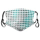 Personalized Face Protect Covers conceptual heart love pattern design white styl Face Shield