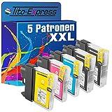 platinumserie–Juego de 5cartuchos de tinta XXL con chip compatible para Brother LC985DCP-J 125DCP-J de 140W DCP J 315W DCP J 515W