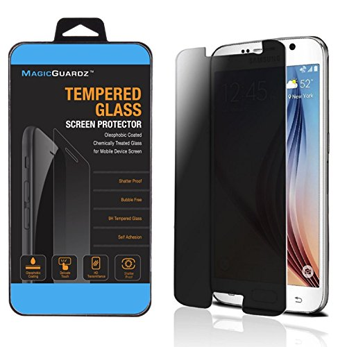 MagicGuardz - Made for Samsung Galaxy S6, Privacy Anti-Spy Tempered Glass Screen Protector Shield, Retail Box