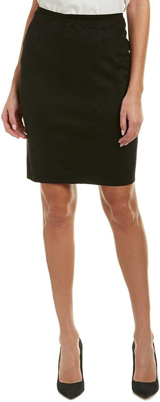 Elie Tahari Womens Vincetta Faux Suede Bodycon Mini Skirt