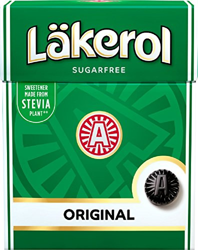 Läkerol Original Licorice Menthol Flavor Sugar-Free Pastilles (Pack of 4)