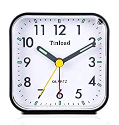 professional Tin load an analog alarm clock with a small battery, it's quiet, it doesn't tick, it beeps …