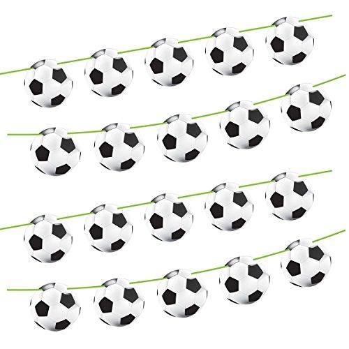Folat 26207 - Girlande Fußball - ca. 10 m lang - 15 Fußbälle je Ø 22 cm - 2 STK.