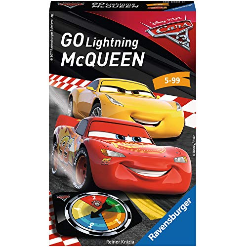 Ravensburger 23437 - Disney/Pixar Cars 3 Go Lightning McQueen! - Kinderspiel/ Reisespiel